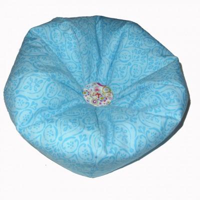 Fauteuil «bean bag» turquoise pour poupée Mélie