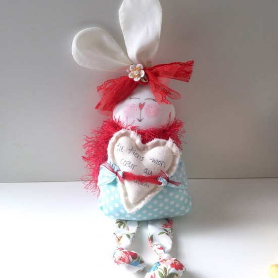 Lapin coquin turquoise