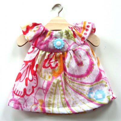 Robe d'été ROSE pour poupée de chiffon Mélie