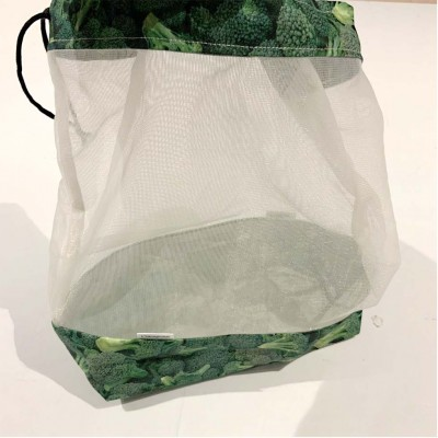 Sac à fruits et légumes réutilisable brocoli (grand)
