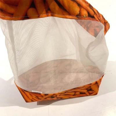 Sac à fruits et légumes réutilisable carotte (grand)