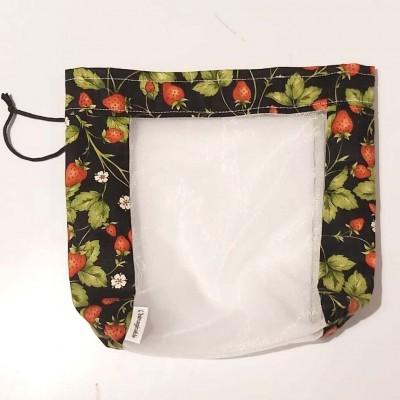Sac à fruits et légumes réutilisable fraise (petit)