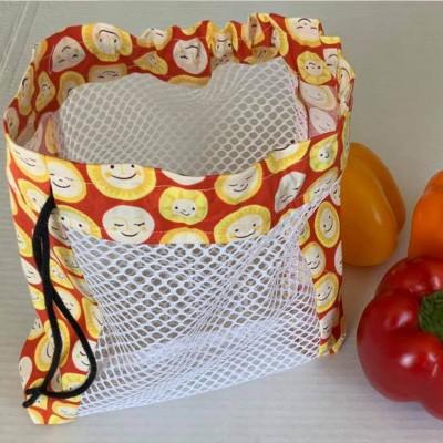 Sac à fruits et légumes réutilisable sourire (petit)